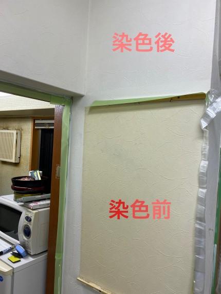 鹿児島市 壁紙染色