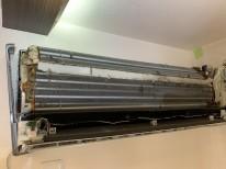 鹿児島市 東芝 おそうじ機能付エアコンクリーニング