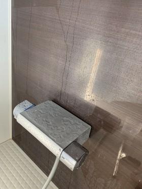 浴室 壁 白い水アカ 鹿児島市