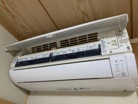 鹿児島市 シャープ おそうじ機能付きエアコンクリーニング